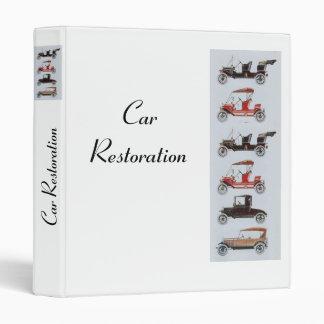 RETRO CARS 2  RESTORATION white 3 Ring Binder