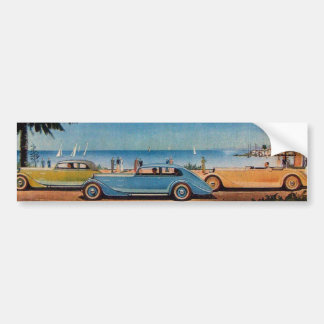 RETRO CARS - Auto repair automotive Bumper Sticker