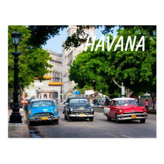 Retro cars on the Havana street Postcard