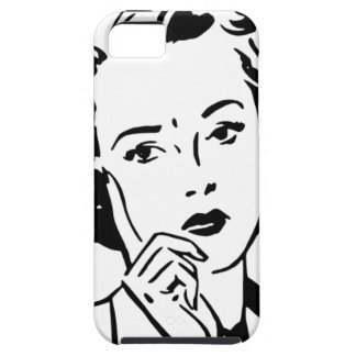 Retro Cartoon 1950's Woman iPhone 5 Cover