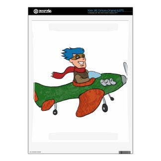 retro cartoon airplane. decal for the xbox 360
