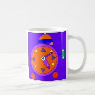 retro cartoon clock mug