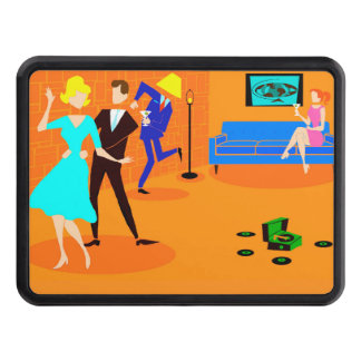 Retro Cartoon Cocktail Party Hitch Cover