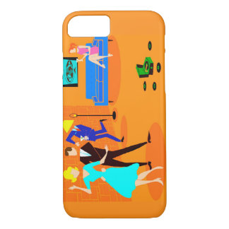 Retro Cartoon Cocktail Party iPhone 7 Case