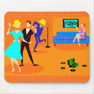 Retro Cartoon Cocktail Party Mousepad