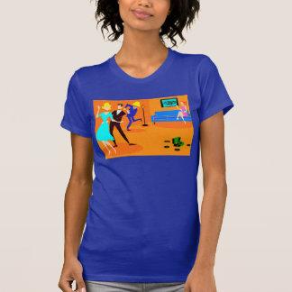 Retro Cartoon Cocktail Party T-Shirt