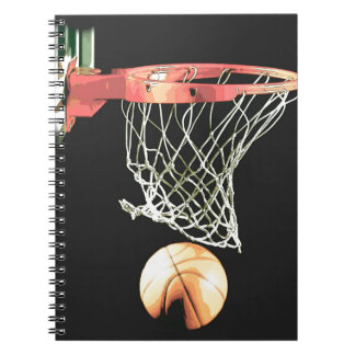 Retro Cartoon Comic Effect Basketball Notebook