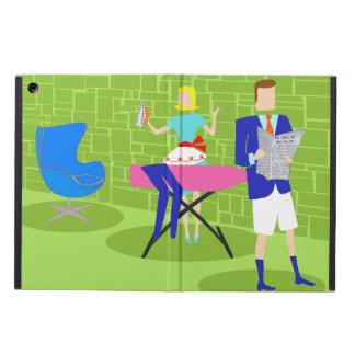 Retro Cartoon Couple at Home iPad Air Case
