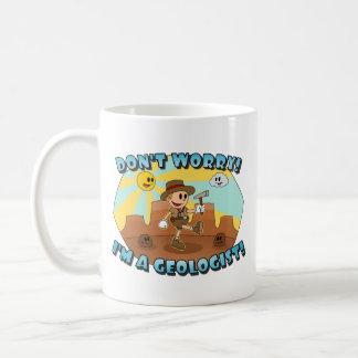 Retro Cartoon- Don t Worry I m a Geologist Mug
