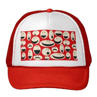 Retro Cartoon Faces Pattern Trucker Hat