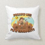 Retro Cartoon- Follow Me! I'm a Geologist! Pillow