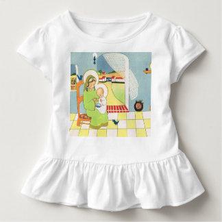 Retro cartoon, Mary with baby Jesus Toddler T-shirt