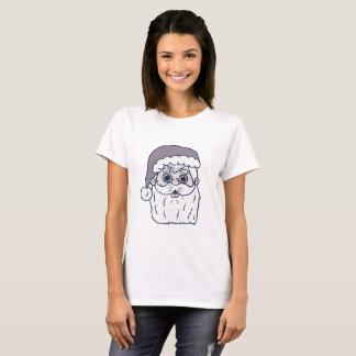 Retro Cartoon Santa Head T-Shirt