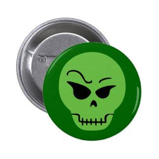 Retro Cartoon Skull Pinback Button