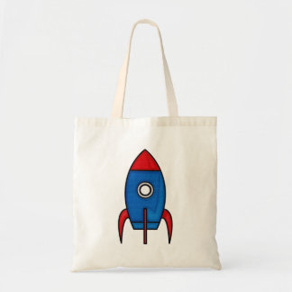 Retro Cartoon Space Rocket Bag