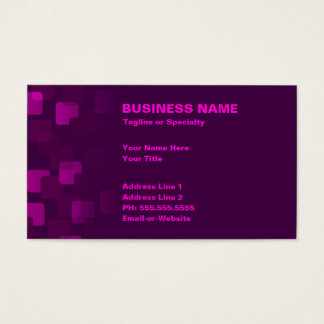retro cascades business card