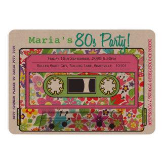 Retro Casette Tape 80s Party Theme Invitation