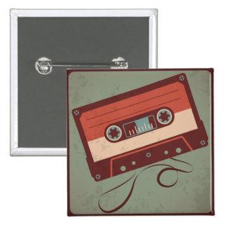 Retro Casette Tape Buttons