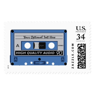 Retro Casette Tape custom text postage stamps