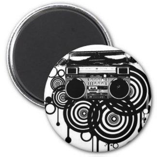 retro cassette 2 inch round magnet