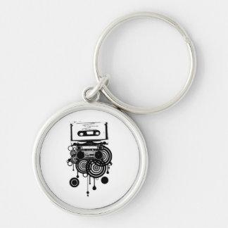 retro cassette keychain