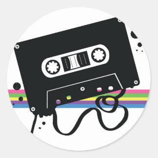 Retro Cassette Love Classic Round Sticker
