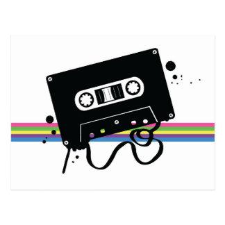 Retro Cassette Love Postcard
