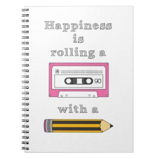 Retro Cassette Quote Spiral Notebook