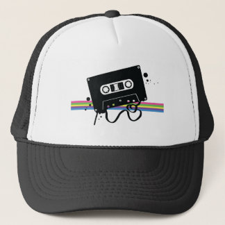 Retro Cassette Rainbow Trucker Hat