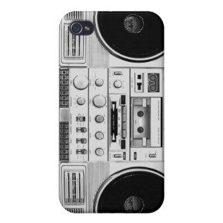 Retro Cassette Stereo iPhone 4/4S Case Cover - Lig