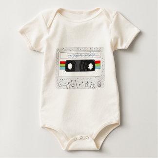 Retro cassette tape 80s style baby bodysuit
