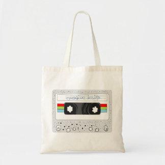 Retro cassette tape 80s style canvas bags