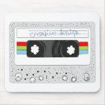 Retro cassette tape 80s style mouse mat