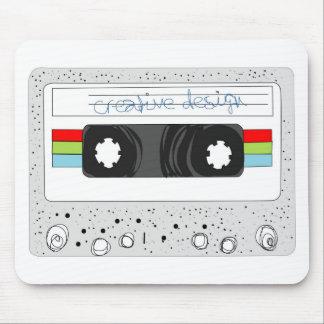 Retro cassette tape 80s style mouse pad