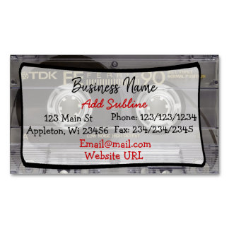Retro Cassette Tape Business  Magnetic Card