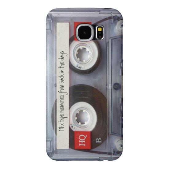 Retro Cassette Tape Funny Personalized Samsung Galaxy S6 Case