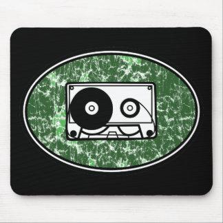 Retro Cassette Tape Green Mouse Pad