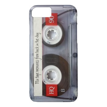 Retro Cassette Tape Iphone 7 Case by cutencomfy at Zazzle