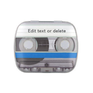 Retro Cassette Tape Jelly Belly Candy Tin