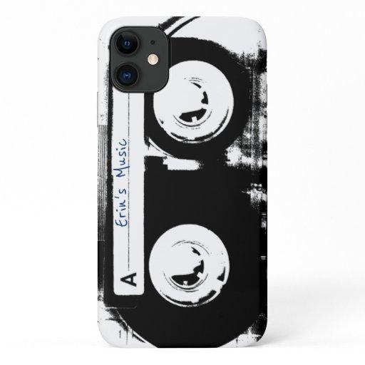 Retro Cassette Tape Monochrome iPhone 11 Case