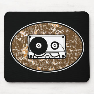 Retro Cassette Tape Orange Mouse Pad