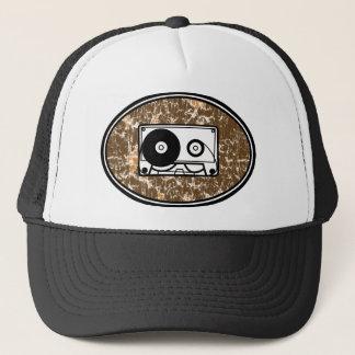 Retro Cassette Tape Orange Trucker Hat