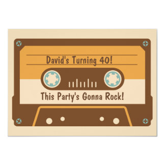 Retro Cassette Tape Party Invitation
