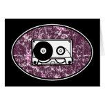 Retro Cassette Tape Pink Card