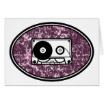Retro Cassette Tape Pink Cards