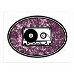Retro Cassette Tape Pink Post Cards