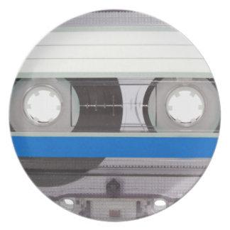 Retro Cassette Tape Plate