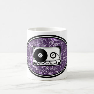 Retro Cassette Tape Purple Coffee Mugs