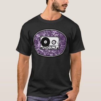 Retro Cassette Tape Purple T-Shirt