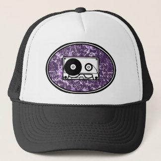 Retro Cassette Tape Purple Trucker Hat